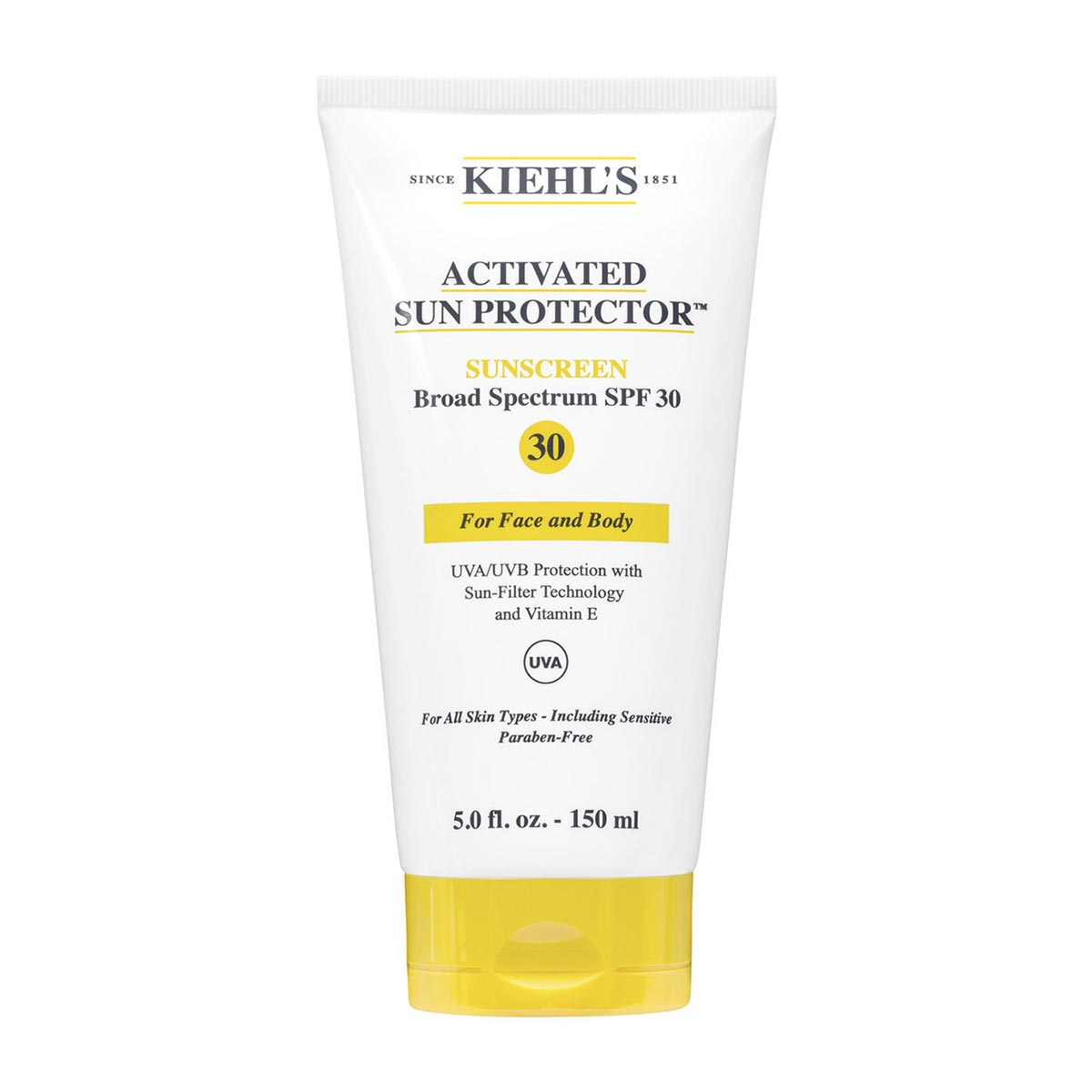 Kiehl's Activated Sun Protector Sunscreen For Face and Body SPF 30, 150ml