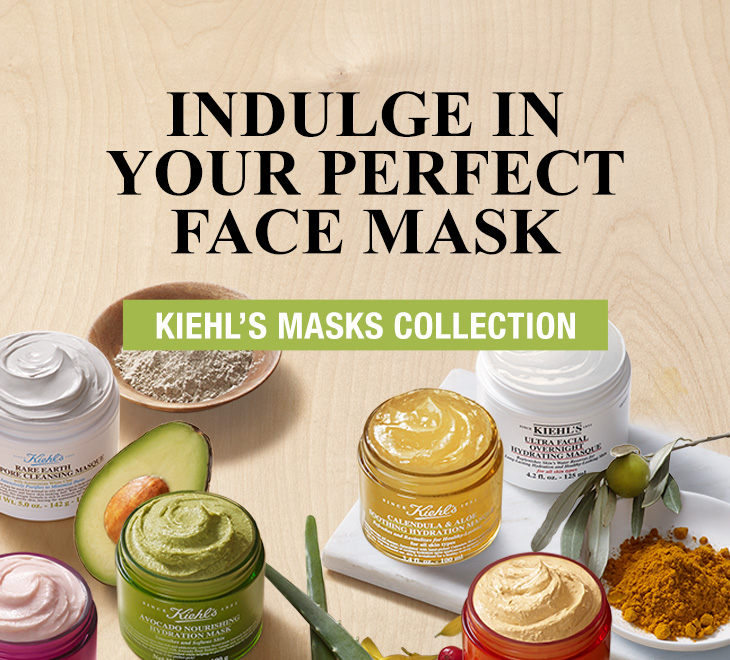 Indulge In Your Perfect Face Mask - Kiehls Masks Collection
